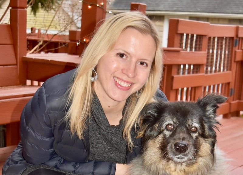 Brianne Miers and her dog, Lucy