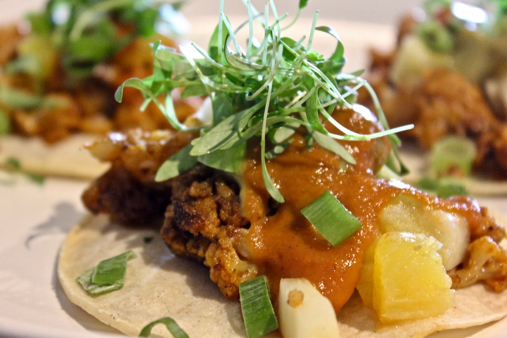 cauliflower tacos at Plant City in Providence, Rhode Island