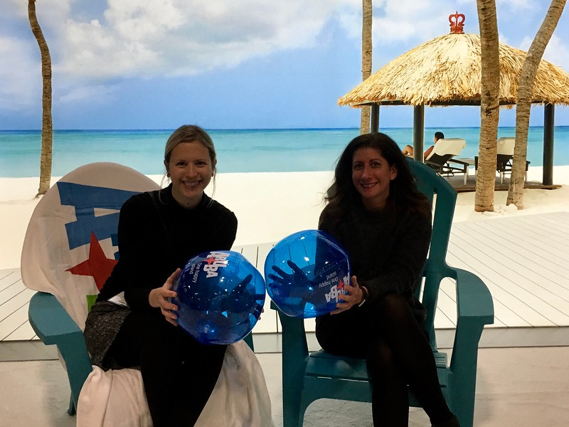 Brianne Miers and Kristin Amico at the Boston Globe Travel Show