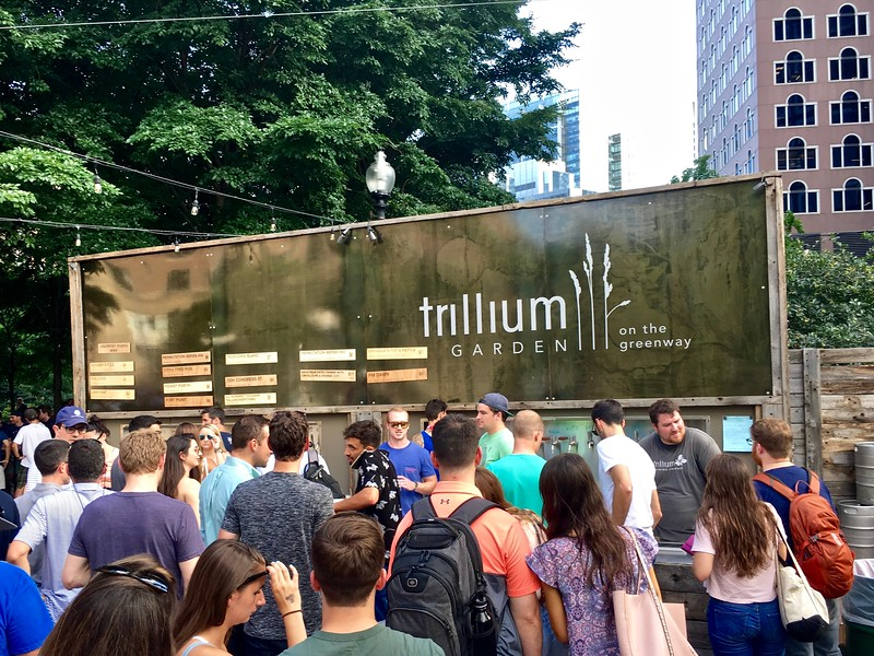 Trillium Beer Garden on the Greenway in Boston, Massachusetts