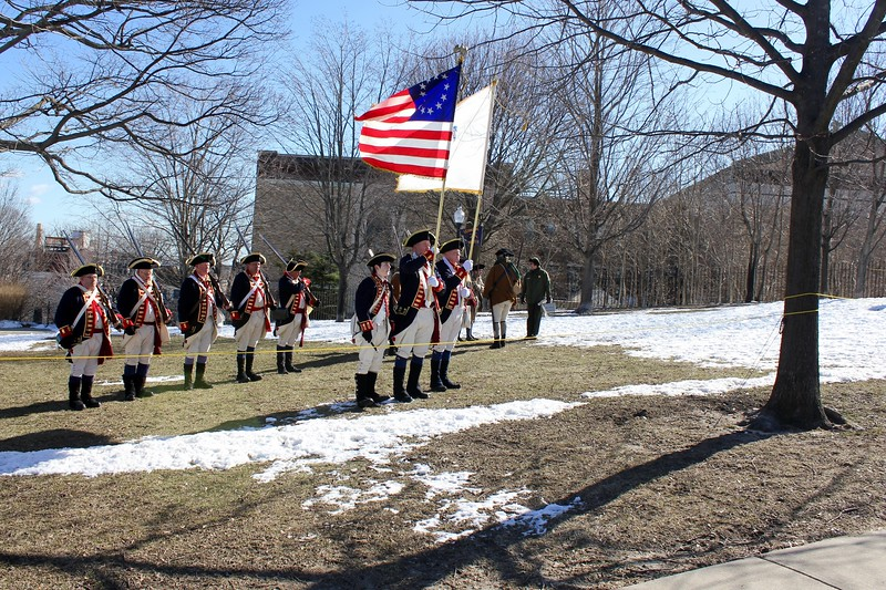 Evacuation Day ceremony at Dorchester Heights in Boston