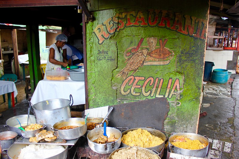 Cecila's restaurant at Bazurto Market