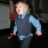 Running crazy at Urban Farmer. It was very hard to get a picture of Linc all gussied up!