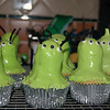 Alien Cupcakes for Lincoln's birthday party (test run)!