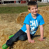 Chandler in the hay maze.