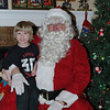 Lincoln & Santa (He was so HAPPY!)
