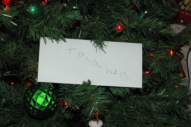 Chandler's letter to Santa, 11/27/11