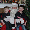 The boys and Santa