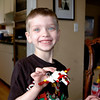Chandler with one of his new Star Wars Lego toys (Thanks Gma Brown).
