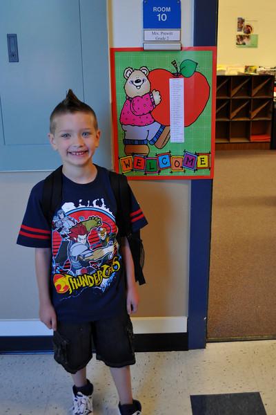 Chandler at his classroom.