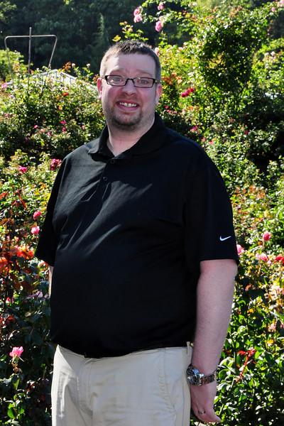 Rob at the Rose Garden.