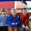 Lincoln, Lucas, Chandler on the hayride.