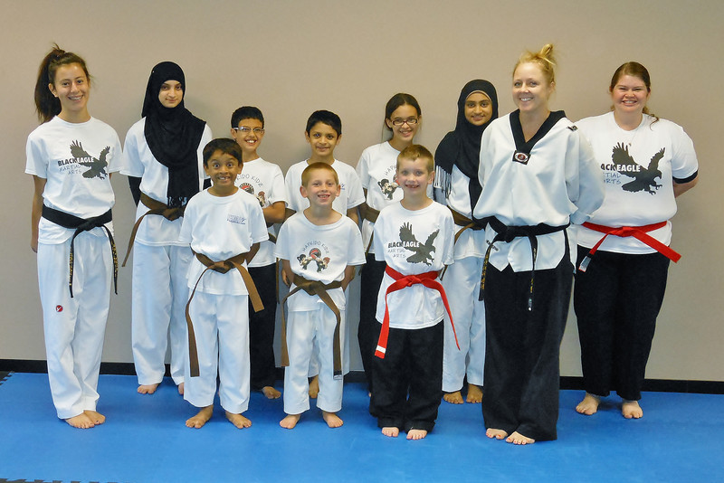 The Taekwondo Crew with their new belts, September 18, 2012!