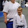 Chandler and I with our blue belts, 4.23.12