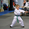 Chandler doing Sa Jang (Form/Poomsae) for belt testing, 4.18.12