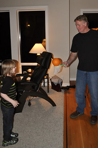 Great Uncle Craig, playing with Lincoln on Thanksgiving, 2013