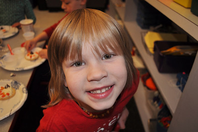 Cheesing it up in kindy, Nov 24, 2013