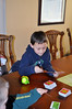 Zachary playing Disney Apples to Apples.