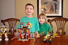 Both boys love their Legos!