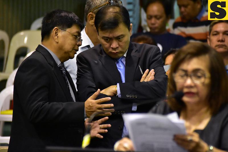 Davao City Councilors Diosdado Mahipus and Nilo Abellera
