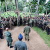Soldiers at Abu Sayyaf hide-out in Inabanga, Bohol