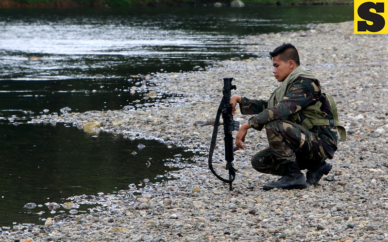 Soldier at Inabanga river
