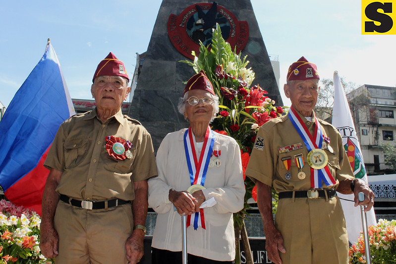 Filipino war veterans in Baguio