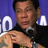 President Rodrigo Duterte shows tattoo