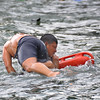 Coast Guard member during rescue training