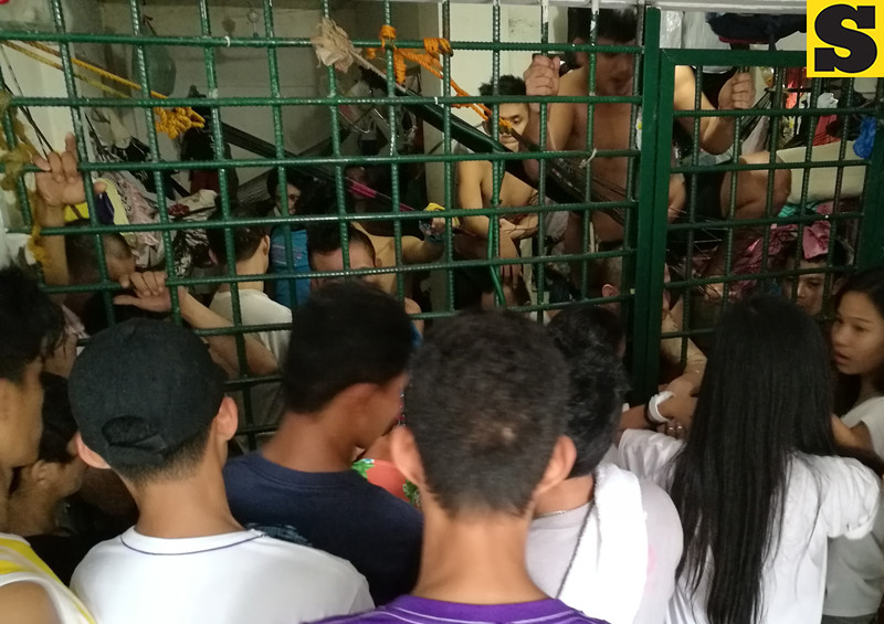 Prisoners at Cordova detention cell