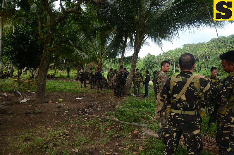 Soldiers pursuing Abu Sayyaf bandits in Bohol