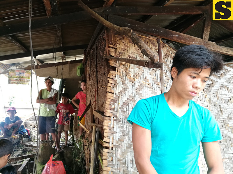 Tropical Depression Crising damages house in Carmen, Cebu
