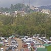 Congested parking lot of Burnham Park, Baguio