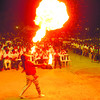 Fire dancer entertains One Cebu supporters