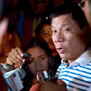 DAVAO. City Vice Mayor Rodrigo R. Duterte lashes at second district congressional candidate Joji Ilagan-Bian in an interview with reporters Tuesday night. (King Rodriguez)
