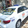 THEY COULD HAVE BEEN FOLLOWED. Crisanta Lauro was in this taxi with her live-in partner's sister when gunmen attacked them on V. Sotto St. in Cebu City. (Amper Campaña of Sun.Star Cebu)