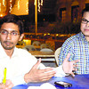 "Elance Bangladesh country manager Saidur Mamun Khan (left) says online freelancing ""has evolved into a radical way of working"" that offers ""opportunities and convenience."" With him is Elance Philippines country manager Ron Cirujano. (Sun.Star Photo/ Arni Aclao)"