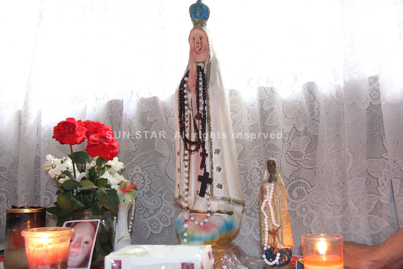 Weeping Virgin Mary statue in Barangay Tisa, Cebu City