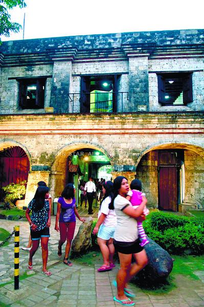 Fort San Pedro repairs