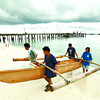 Fishermen in Cebu prepare form storm surge