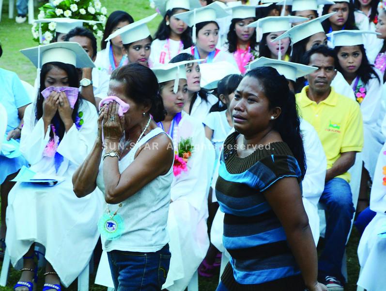 Grief in Boljoon, Cebu graduation