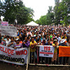 LANAO DEL SUR. An estimated 20,000 residents of Wao in Lanao del Sur province oppose the inclusion of their municipality in the Bangsamoro Juridical Entity in a public consultation before the Government of the Philippines Peace Panel and Bangsamoro Transition Commission representatives with the provincial government at Magsaysay plaza here on Monday, April 21, 2014. (Richel Umel of Sun.Star Cagayan de Oro)