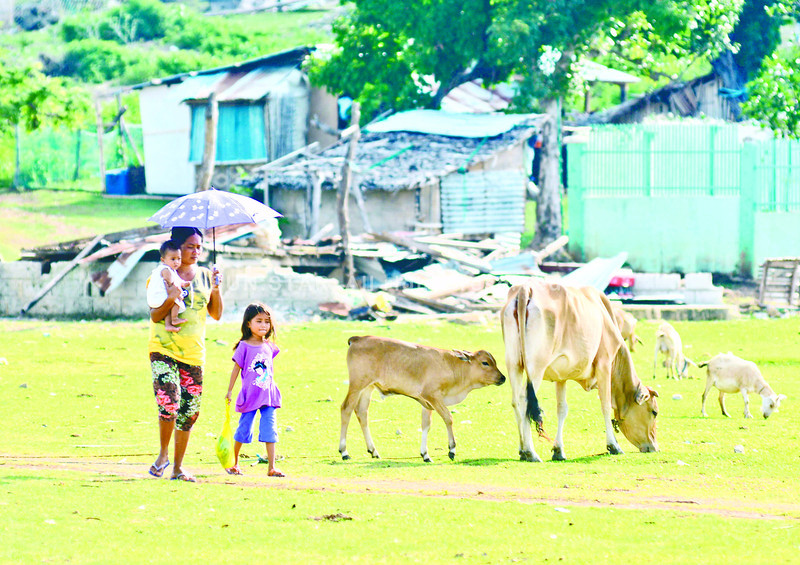 RECOVERY WOES. More than 100 families in the island-barangay of Hilantagaan, Bantayan remain in temporary shelters as they do not have enough funds to rebuild their homes and housing assistance from the National Government has yet to be released. (SUN.STAR FOTO/ALEX BADAYOS)