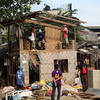 CAGAYAN DE ORO. A house erected inside the land owned by the Waga family in Little Bohol Agora, Barangay Lapasan was demolished Wednesday, along with 95 other houses. (Joey P. Nacalaban)