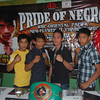 BACOLOD. Fast-rising Negrense boxers will showcase their wares in ALA Promotions' 'Pride of Negros' slated May 4 at the La Proa Ballroom of L 'Fisher Hotel, Bacolod City. (L-R) Bacoleño Juren Labordo, Bacoleño OPBF champ Merlito 'Tiger' Sabillo, Escalante City's Melvin Gumban and Himamaylan City's Rey Morales.  (Gilbur L. Guarte)