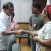 ZAMBOANGA. Mayor Celso Lobregat release on Wednesday cash aid to fire victims in Zamboanga City. (Bong Garcia)