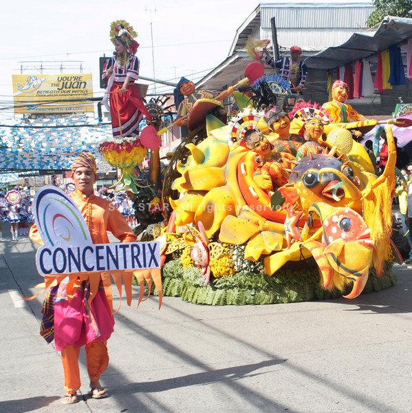 THE float of Concentrix that won the grand prize of P150,000. (Joey P. Nacalaban)