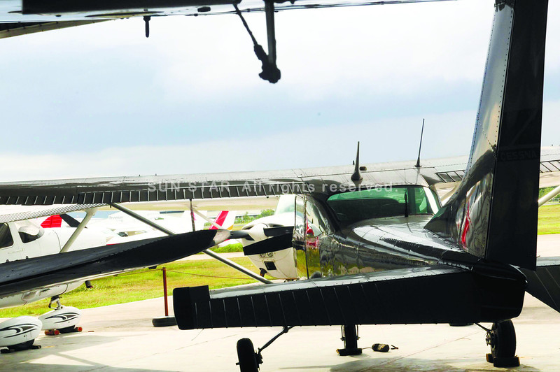FLIGHTLESS. Aviatour's aircraft remain grounded as the Civil Aviation Authority of the Philippines investigates the Aug. 18 crash that killed Local Government Secretary Jesse Robredo, pilot Jessup Bahinting and co-pilot Kshitiz Chand. (Sun.Star Photo/Allan Cuizon)