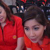 CEBU. Shell V-Power brand manager Pia Que-Ang (L) and fuel scientist from Shell Global Mae Ascan (R) talk about Shell's newest generation of performance fuels during a prodcut launch Friday at the Ayala Center Cebu. (Jay Ann Clamohoy)