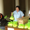 BACOLOD. Capitol employees, including the guard, prepare relief assistance for families from 11 local government units affected by Typhoon Gener. (Teresa Ellera)